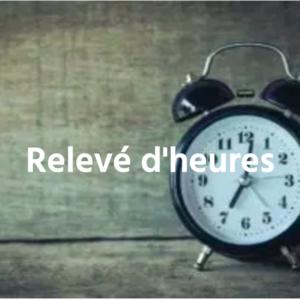 releve d heures